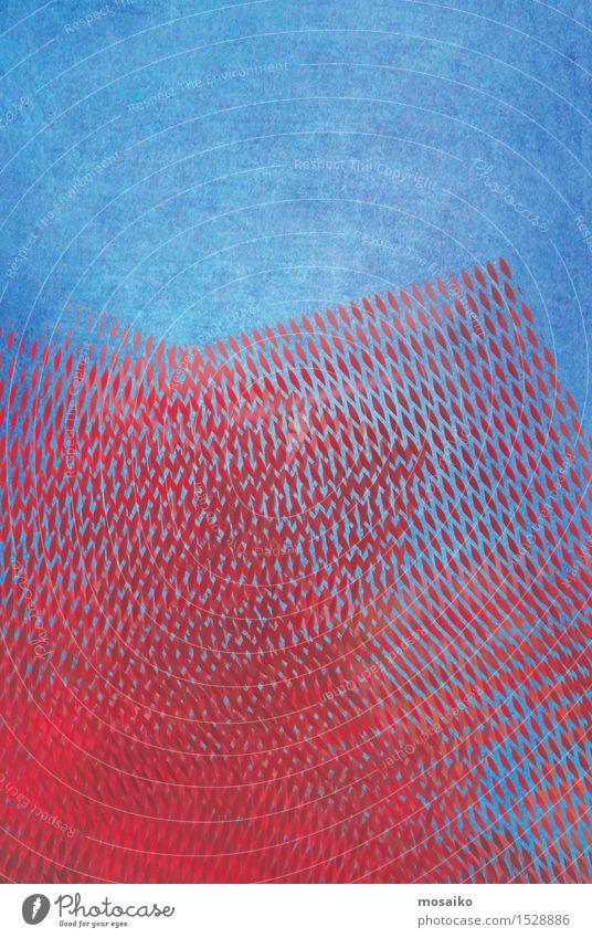 grid 4 Lifestyle elegant Stil Design außergewöhnlich Coolness retro blau rot Sicherheit Schutz Aquarell Grunge Grafik u. Illustration Textfreiraum abstrakt