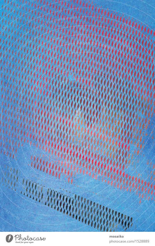 grid 3 Stil Design einfach trendy retro blau rot ästhetisch Aquarell Hintergrundbild Grunge Grafik u. Illustration Druckerzeugnisse Farbe Gitterrost Gitternetz