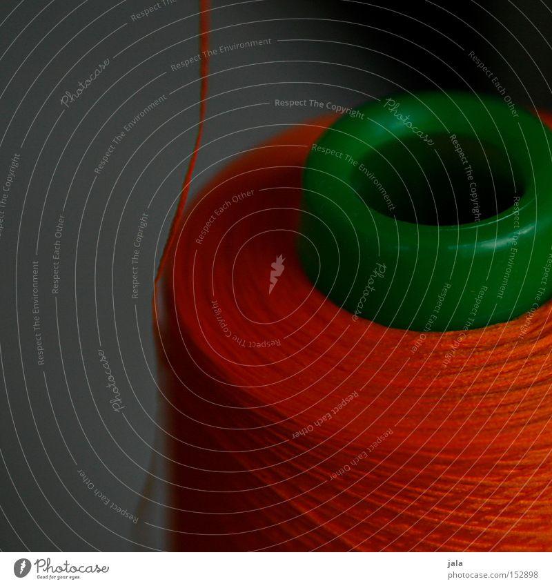 von der rolle rot orange Dienstleistungsgewerbe Handwerk Rolle Nähgarn Nähen Spule Nähmaschine Kurzwaren Schneiderei