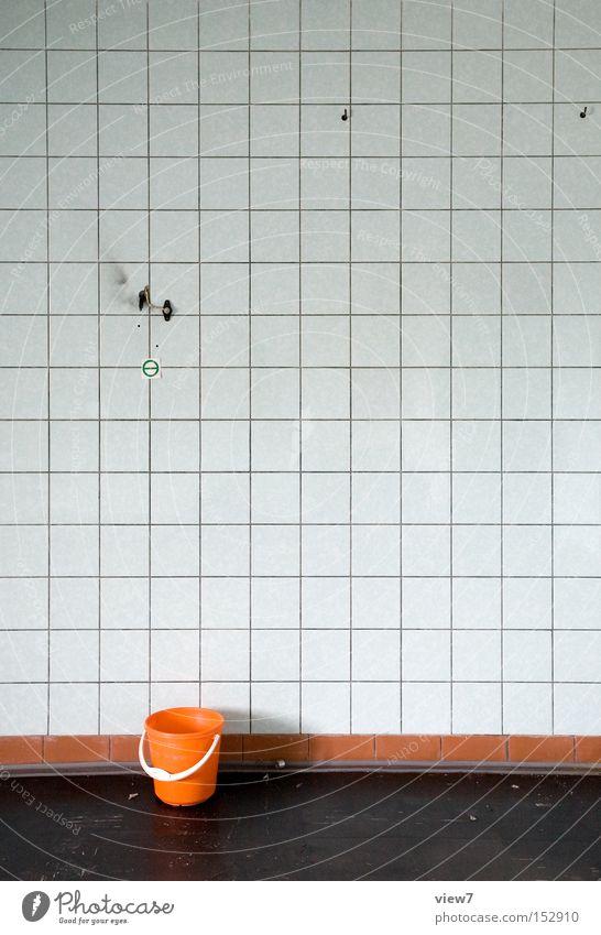 Detail orange. alt Farbe Ordnung frisch retro authentisch Vergänglichkeit einzigartig Innenarchitektur Kunststoff Umzug (Wohnungswechsel) Vergangenheit Verfall