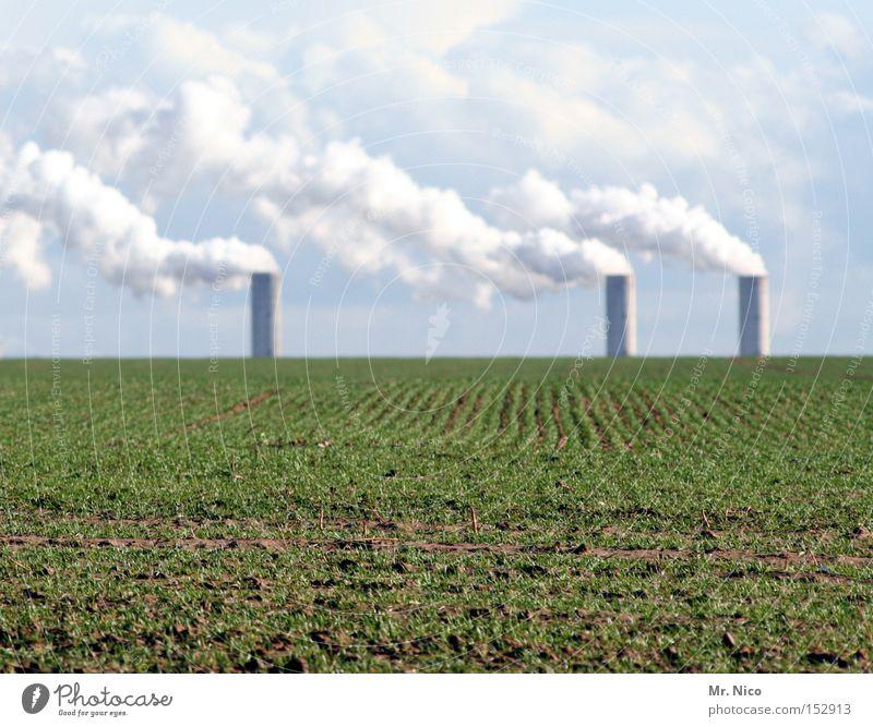 ´´´´´´l ´ ´ ´ ´´´´l ´´´´l Umwelt Umweltverschmutzung ökologisch Landwirtschaft Feld Ackerbau Himmel Wolken Schornstein 3 Industrie Bioprodukte Stromkraftwerke