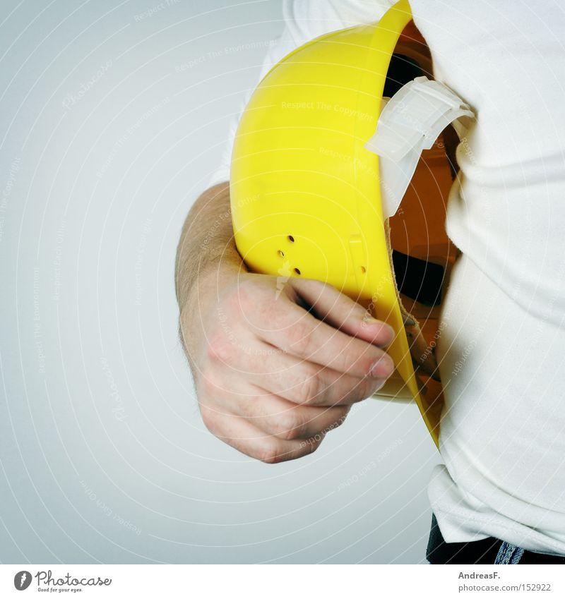 nix zu tun Heimwerker Bauarbeiter bauen Baustelle Helm Bauhelm Schwerstarbeit Arbeitslosigkeit Arbeitsplatzwechsel Berufsausbildung Handwerk Handwerker