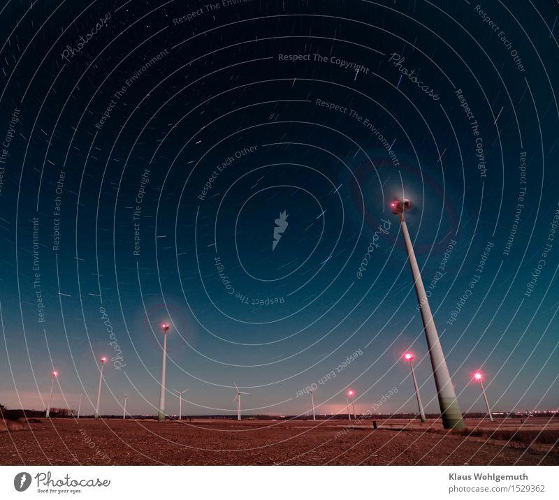 Keine Sternschnuppen Maschine Technik & Technologie Fortschritt Zukunft Energiewirtschaft Erneuerbare Energie Windkraftanlage Energiekrise Umwelt Landschaft