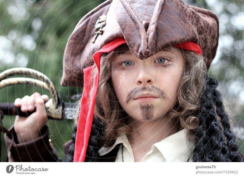 historisch | Pirat der Neuzeit Mensch Kind schön Junge maskulin Kindheit Erfolg beobachten Coolness Macht geheimnisvoll 8-13 Jahre Karneval Mut Hut