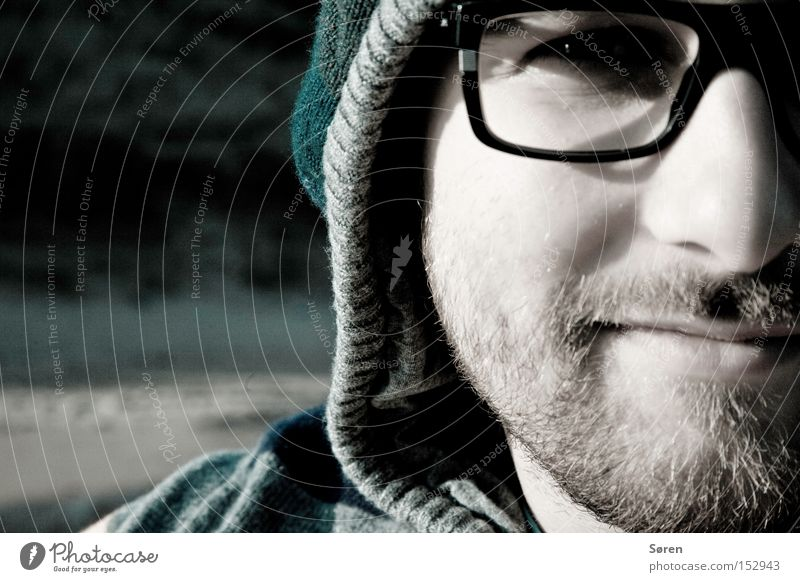 Guck ma! Brille Mütze Bart Dreitagebart Nase Porträt Mann