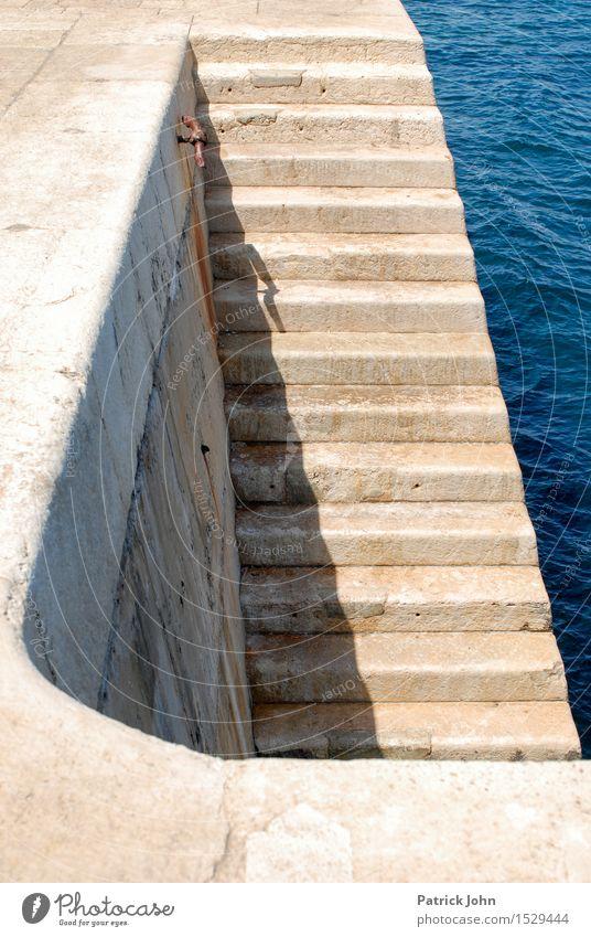 Hafentreppe Valetta Ferien & Urlaub & Reisen Sommer Wasser Sonne Meer Erholung ruhig Tourismus Zufriedenheit Freizeit & Hobby Insel Ausflug Sehnsucht