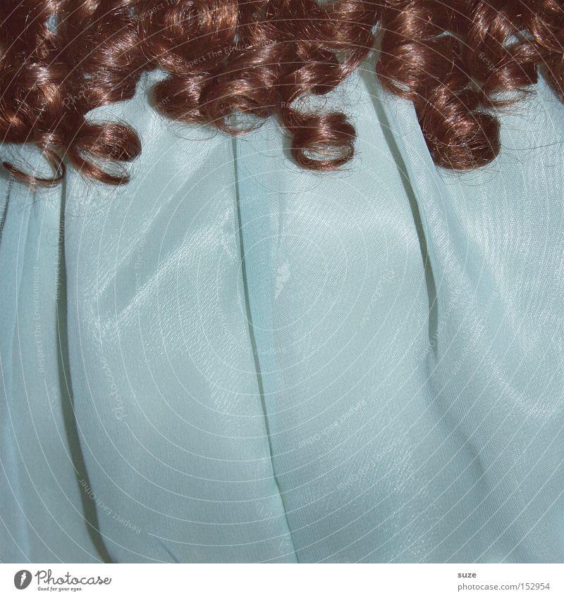 Curly Sue alt blau schön Haare & Frisuren braun Freizeit & Hobby Kindheit retro Kleid Kitsch Stoff Spielzeug türkis Locken Puppe hell-blau