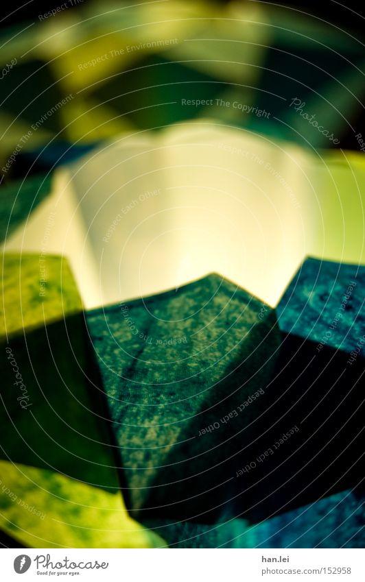 Windlicht Weihnachten & Advent grün blau Stern (Symbol) Romantik Kerze Basteln Teelicht