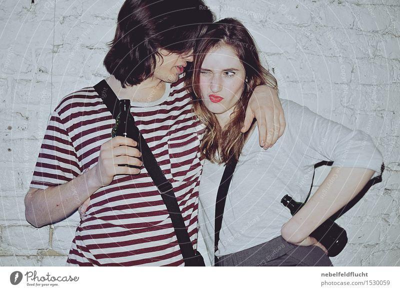 Partypeople Mensch Jugendliche Junge Frau Junger Mann Freude 18-30 Jahre Erwachsene Gefühle feminin Stil Lifestyle Glück Feste & Feiern Haare & Frisuren Mode