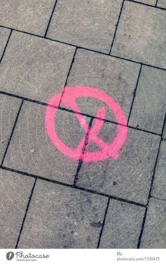 markierung Farbe Straße grau rosa Schilder & Markierungen Schriftzeichen Zeichen Boden Kreuz x