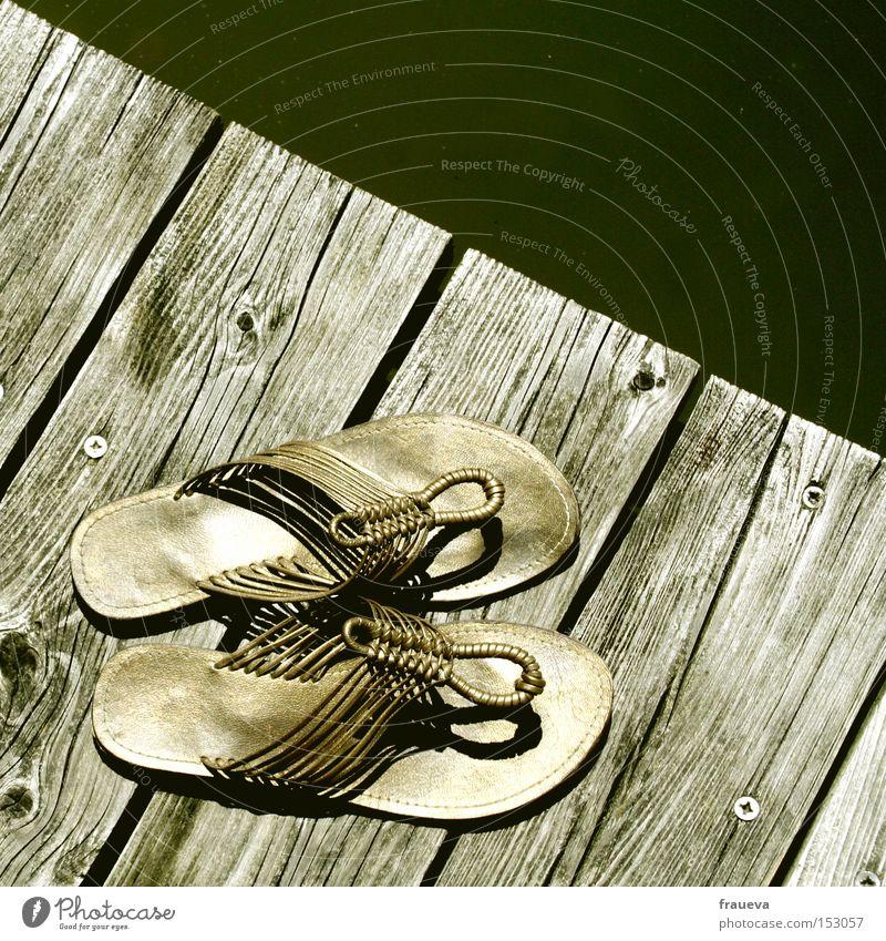 Cleopatra Wasser Sommer Holz Schuhe gold Schwimmen & Baden Steg Sandale Flipflops