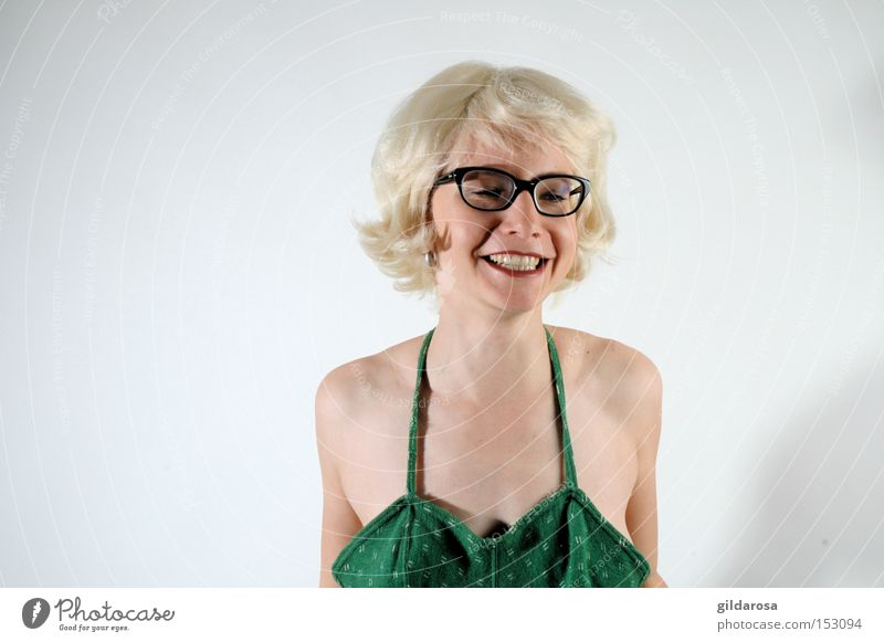 Modern Marilyn blond Brille Mund Auge Gesicht süß unschuldig Jungfrau Badeanzug Sechziger Jahre Frau woman beautyful Monroe