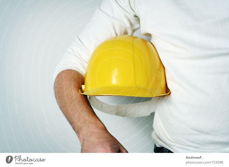 Schaffe, schaffe... Heimwerker Bauarbeiter bauen Hausbau Arbeiter Bauhelm Schwerstarbeit Arbeitslosigkeit Architekt Einfamilienhaus Berufsausbildung Handwerk