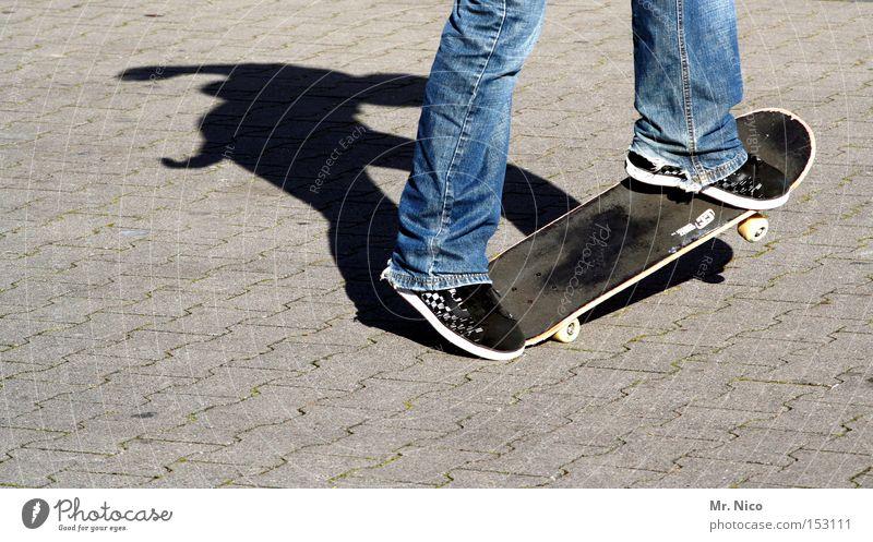 asphaltcowboy *2* Sport Spielen Bewegung Zufriedenheit Aktion Jeanshose Freizeit & Hobby Asphalt Skateboarding Funsport