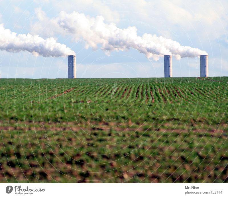 """""""""""""""""""l ^ ^ ^^l^^l Umwelt Umweltverschmutzung ökologisch Landwirtschaft Feld Ackerbau Himmel Wolken Schornstein 3 Industrie Bioprodukte Stromkraftwerke"""