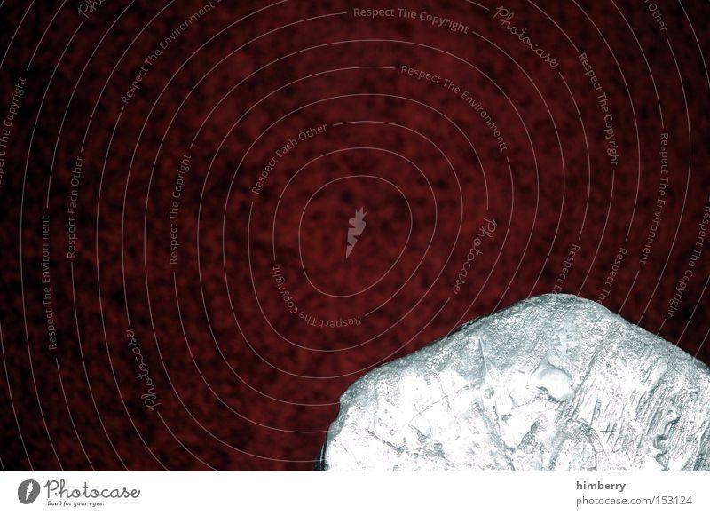 meteorit am boden schön Stil Stein Kunst Design modern Ordnung Boden Bodenbelag Dekoration & Verzierung Innenarchitektur Wohnzimmer silber Silber Teppich