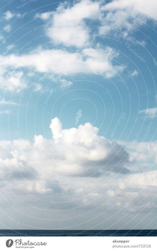 darf's ein bißchen Meer sein? Wolken Himmel blau Sommer Ferien & Urlaub & Reisen frei Freizeit & Hobby meer sehen meer kriegen meer haben abwesenheitsclient