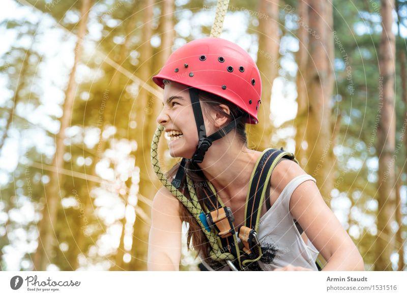fröhliches Klettern Mensch Ferien & Urlaub & Reisen Jugendliche schön Junge Frau Freude Leben Gefühle feminin Sport Gesundheit lachen Lifestyle Kopf Tourismus