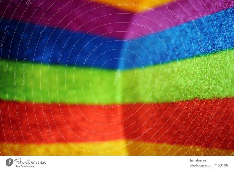rainbow corner Regenbogen Farbe Farbstoff Muster Streifen Hintergrundbild Filz Stoff Material Hut Mode Hippie Design Dekoration & Verzierung Bekleidung