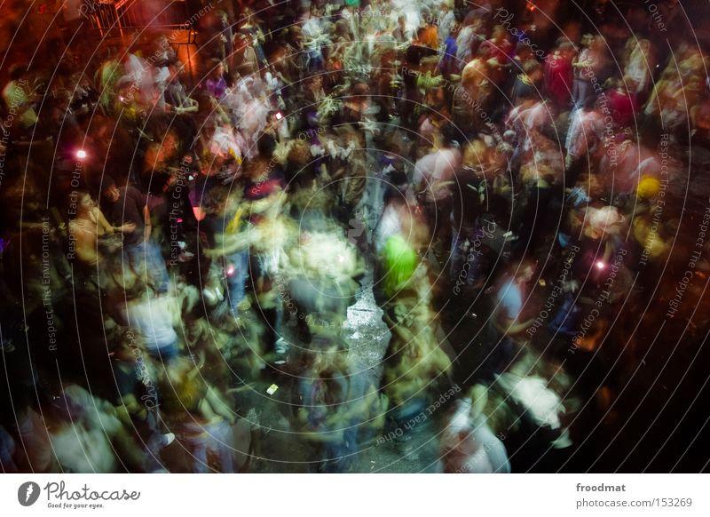 2009 - party on Freude Bewegung Party Musik Feste & Feiern Tanzen Tanzveranstaltung Disco Konzert Club Rauschmittel Publikum mehrfarbig Besucher Tanzfläche