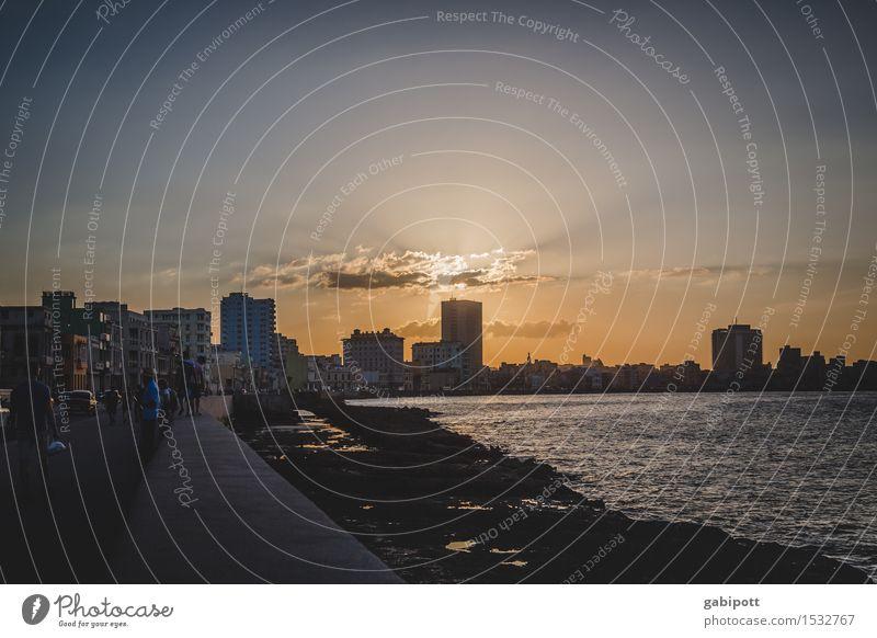 havanna, malecon Ferien & Urlaub & Reisen Tourismus Ausflug Abenteuer Ferne Freiheit Sightseeing Städtereise Kreuzfahrt Sommer Sonne Strand Meer Havanna Kuba