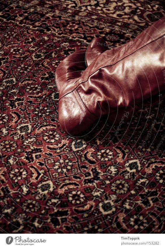 Der gestiefelte Läufer rot dunkel Raum Bekleidung Wohnzimmer Stiefel Schuhe Teppich Gegenteil Schlafzimmer entkleiden Hauskatze Kammer Perserkatze Kinderarbeit