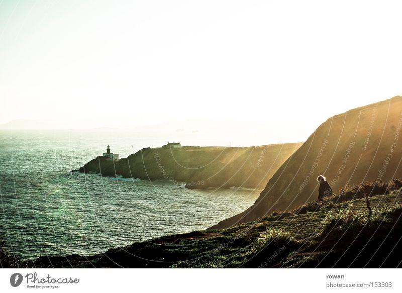 meerblick Natur Sonne Meer Winter Strand Berge u. Gebirge See Küste Felsen Aussicht Leuchtturm Klippe Republik Irland