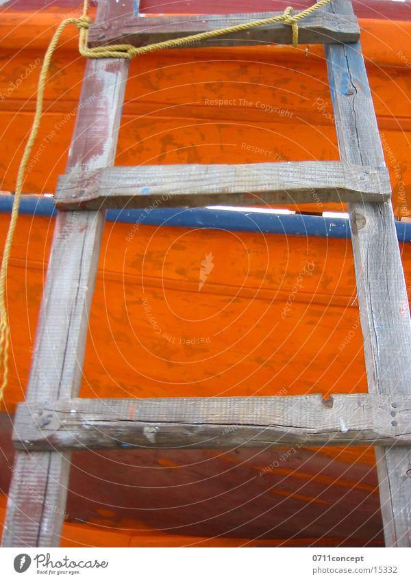 Aufwärts Sicherheit Handwerk Leiter Geborgenheit Fischerboot Holzleiter