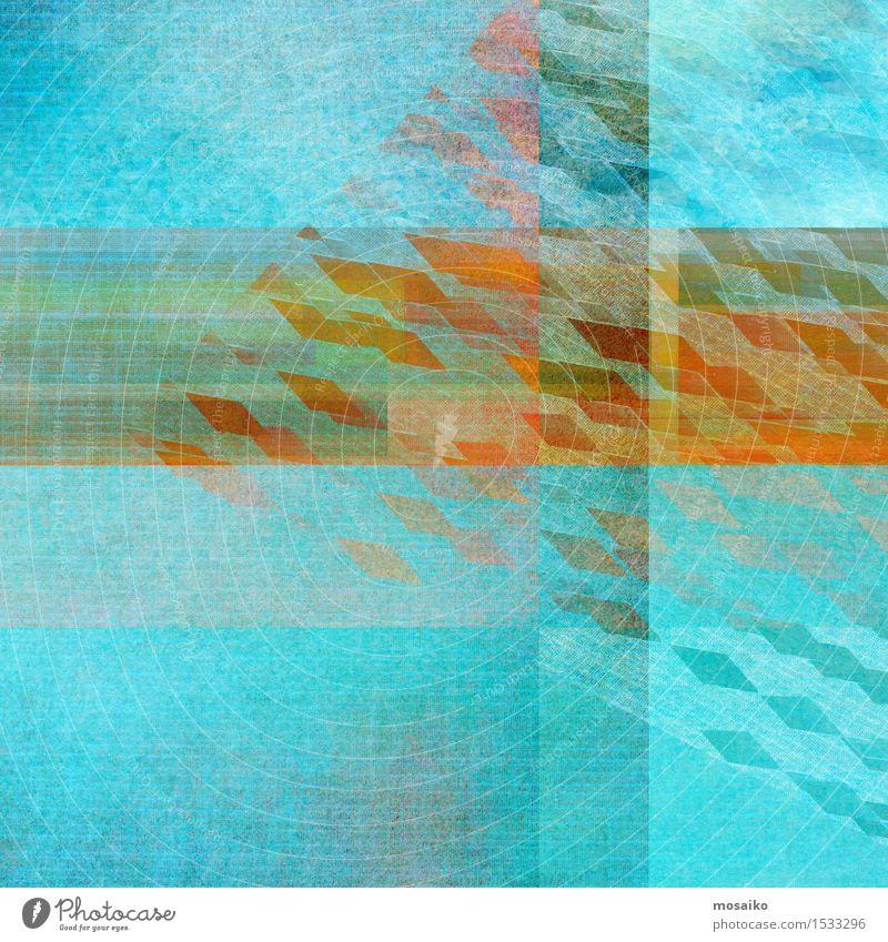 Quadrate Lifestyle elegant Stil Design Dekoration & Verzierung Gemälde modern Farbe Idee Inspiration Kreativität Symmetrie Wasserfarbe Postkarte