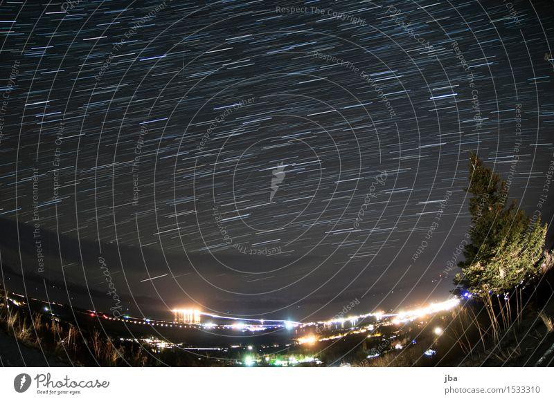 Blick gen Süden - Alaska 25 Himmel Ferien & Urlaub & Reisen Meer Erholung Landschaft Wolken ruhig Ferne dunkel Wald Herbst Küste Erde Horizont Luftverkehr Stern