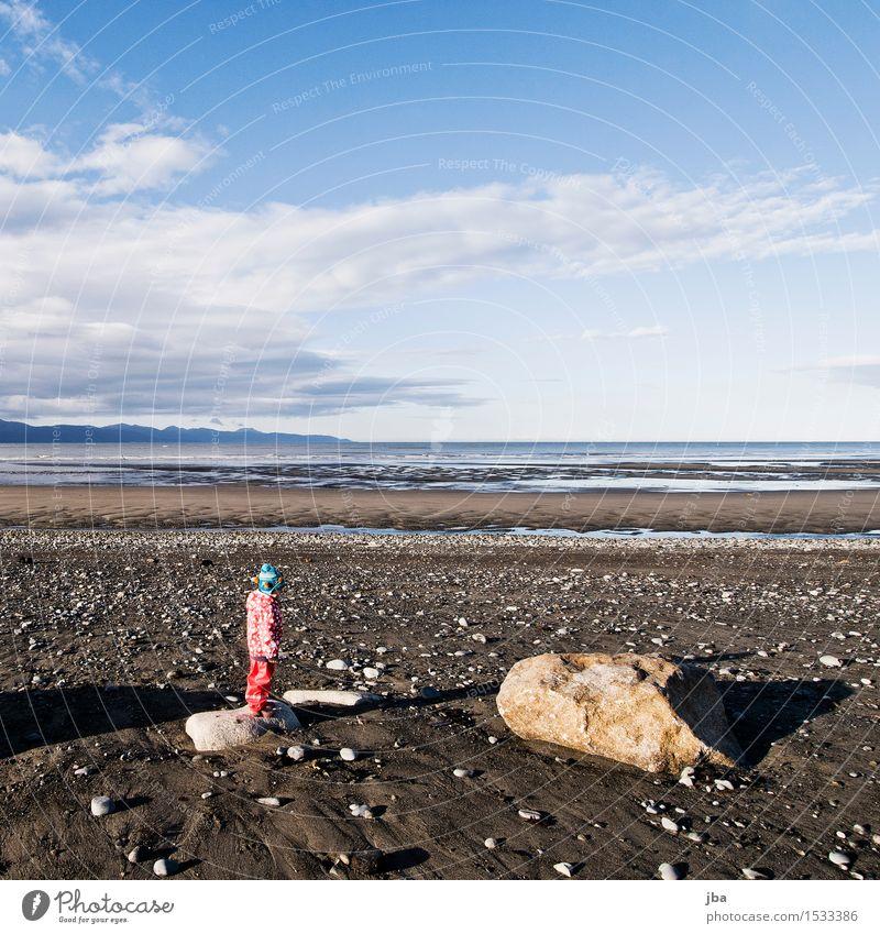 träumen - Alaska 27 Wohlgefühl Zufriedenheit ruhig Ferien & Urlaub & Reisen Ferne Freiheit Sonne Strand Meer Kind Mädchen 1 Mensch 1-3 Jahre Kleinkind