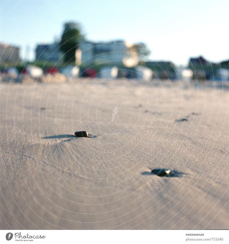 zwei Meer Strand Ferien & Urlaub & Reisen Stein Sand 2 Mittelformat