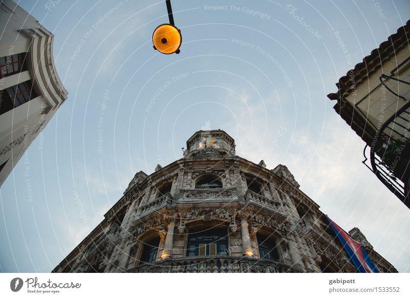havanna Ferien & Urlaub & Reisen Tourismus Ferne Sightseeing Städtereise Havanna Kuba Stadt Hauptstadt Stadtzentrum Altstadt Haus Traumhaus Mauer Wand Fassade
