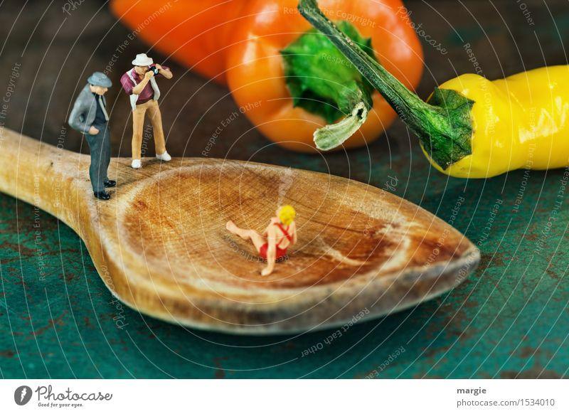 Miniwelten- Hot Foto Shooting Gemüse Ernährung Bioprodukte Vegetarische Ernährung Lifestyle Freizeit & Hobby Küche Mensch maskulin feminin Frau Erwachsene Mann