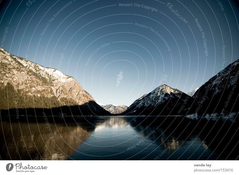 Heiterwanger See III Wasser Himmel Baum Winter Wald Schnee Berge u. Gebirge Landschaft Eis Stimmung Alpen Schönes Wetter Österreich Bundesland Tirol