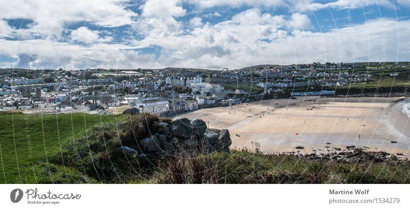 St. Ives Landschaft Wolken Strand Dorf Fischerdorf Sehenswürdigkeit Ferien & Urlaub & Reisen Cornwall England Großbritannien Farbfoto Außenaufnahme