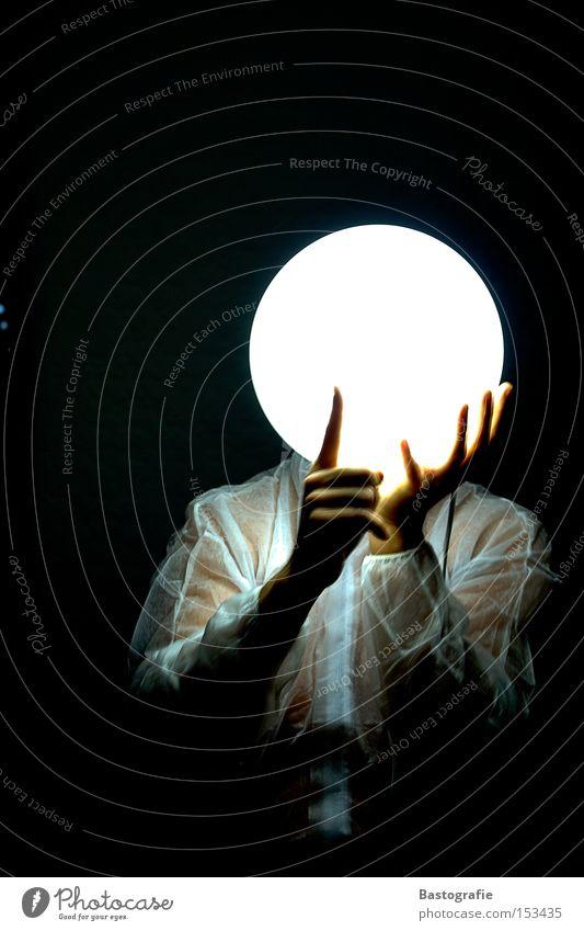 """""""psssst"""".... sagte der mond Mensch Mann Hand weiß Gesicht ruhig Lampe Kopf hell Beleuchtung Finger Wissenschaften Kugel Strahlung Mond Himmelskörper & Weltall"""