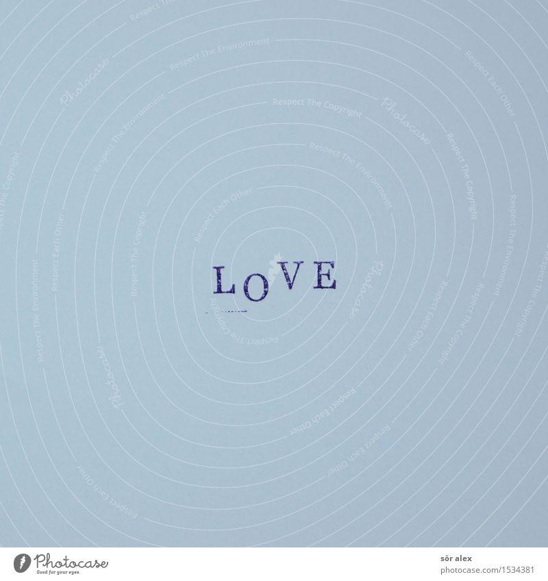 How Deep Is Your ...? Stempel Zeichen Schriftzeichen blau Gefühle Liebe Typographie Muttertag Liebesbrief Liebesgruß Buchstaben lesen Valentinstag Zuneigung