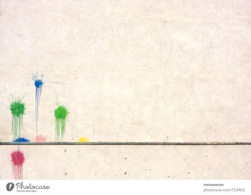 .:. grün blau rot Farbe Wand Graffiti Kunst Dienstleistungsgewerbe Schweinerei