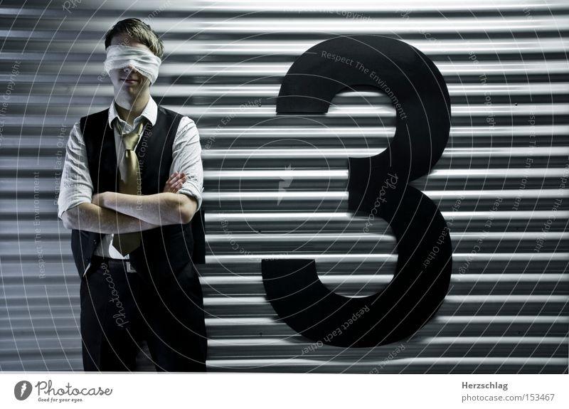 zum dritten mal: KEIN INTERESSE!! Business Angst 3 stoppen Wut Medien Anzug Jacke Stress Handel Neonlicht Ärger Interesse Entertainment Blech nervig