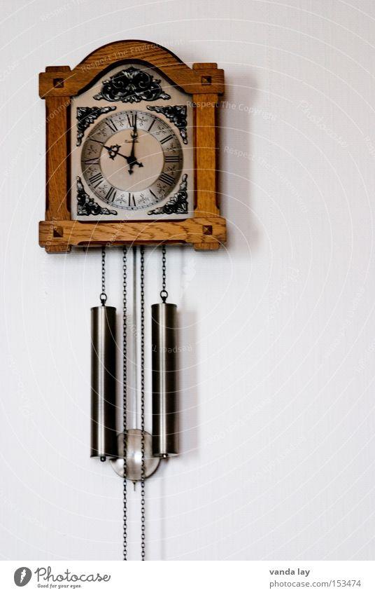 Andere Zeiten alt Wand Zeit Innenarchitektur Uhr Geschwindigkeit Häusliches Leben retro Möbel Wohnzimmer Gewicht Zyklus Herz-/Kreislauf-System Uhrpendel