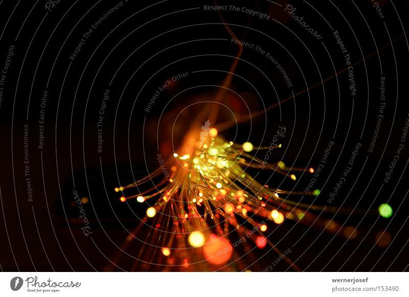 lichtleiter grün rot schwarz gelb Feste & Feiern Wellen Geschwindigkeit Industrie Elektrizität Telekommunikation Wissenschaften Konzert Leiter Laser Licht High-Tech