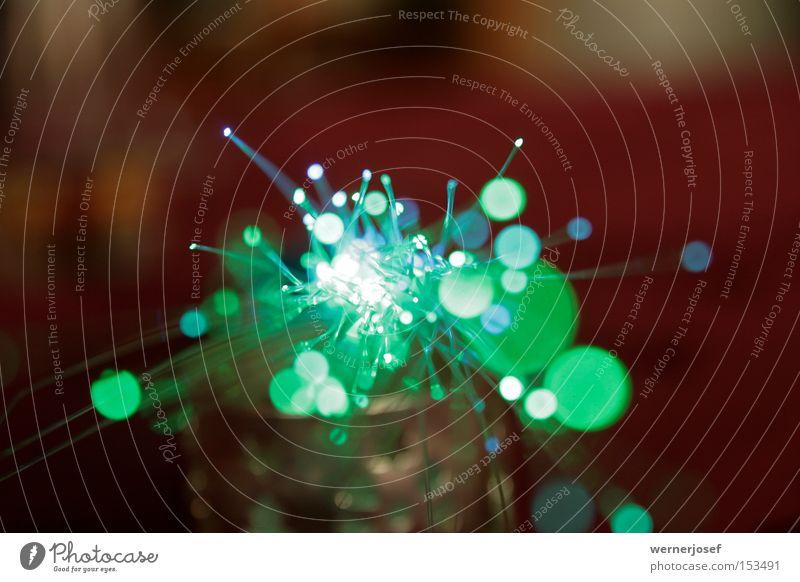 lichtwellen grün weiß Zukunft Kabel Telekommunikation Wissenschaften Handwerk Rauschmittel Licht Glasfaser Wellenlänge Fiberglas