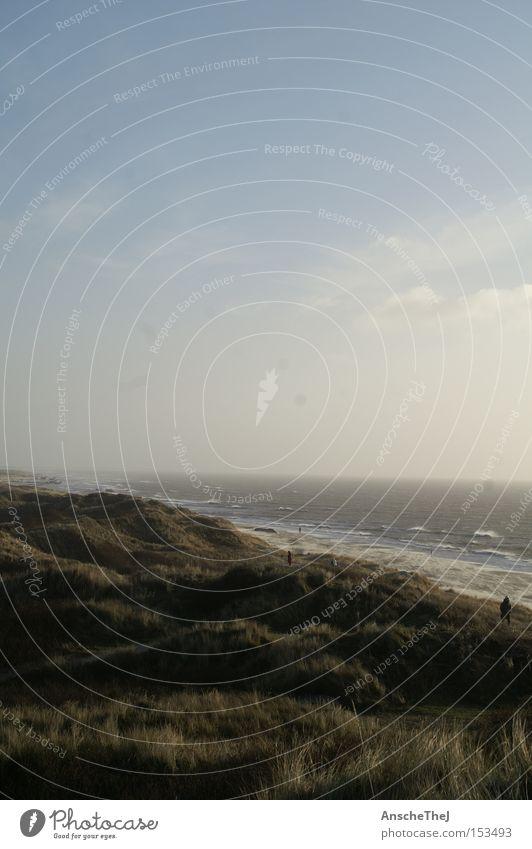 dänemark strand von blavand Düne Stranddüne Wind Sturm Meer Aussicht Nordsee Dänemark Küste Wellen