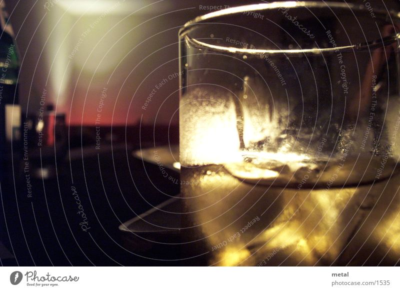 D´Oro Abenddämmerung Warme Farbe Alkohol Glas Makroaufnahme
