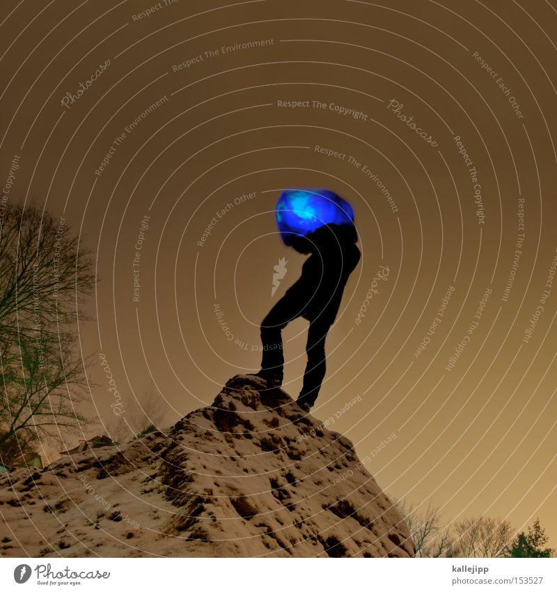 marsexplorer Mensch blau Winter Lampe Schnee Eis Stimmung Beleuchtung Stern (Symbol) Maske Gipfel Oberfläche Planet Karnevalskostüm Außerirdischer Atmosphäre