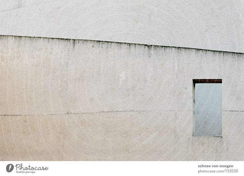 pur Haus Fenster Beton grau Architektur bauen Stein Fuge Schatten modern Baustelle