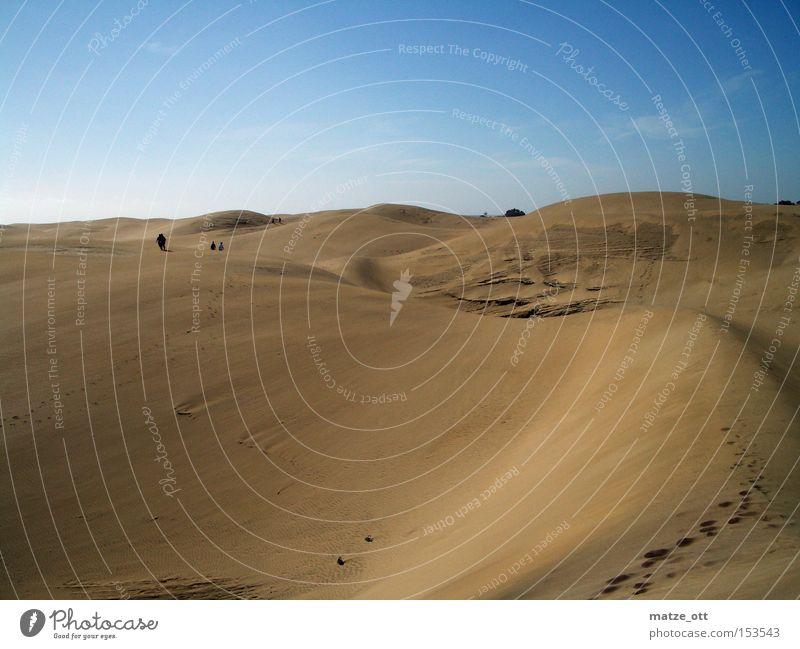 nichts als Sand Wüste Düne Stranddüne Sommer Wärme Himmel Gran Canaria Ferien & Urlaub & Reisen Afrika Erde