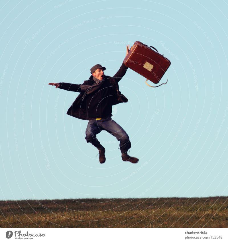 Auf Reise geh'n 2/2 Ferien & Urlaub & Reisen Bekleidung fallen Stress Koffer chaotisch