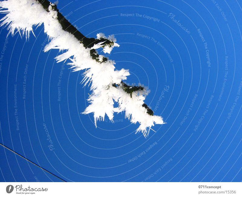 Eiskristalle 02 Ferien & Urlaub & Reisen blau Winter kalt Graffiti Schnee Horizont Eis leer gefährlich Spitze bedrohlich Jahreszeiten gefroren unten Adjektive